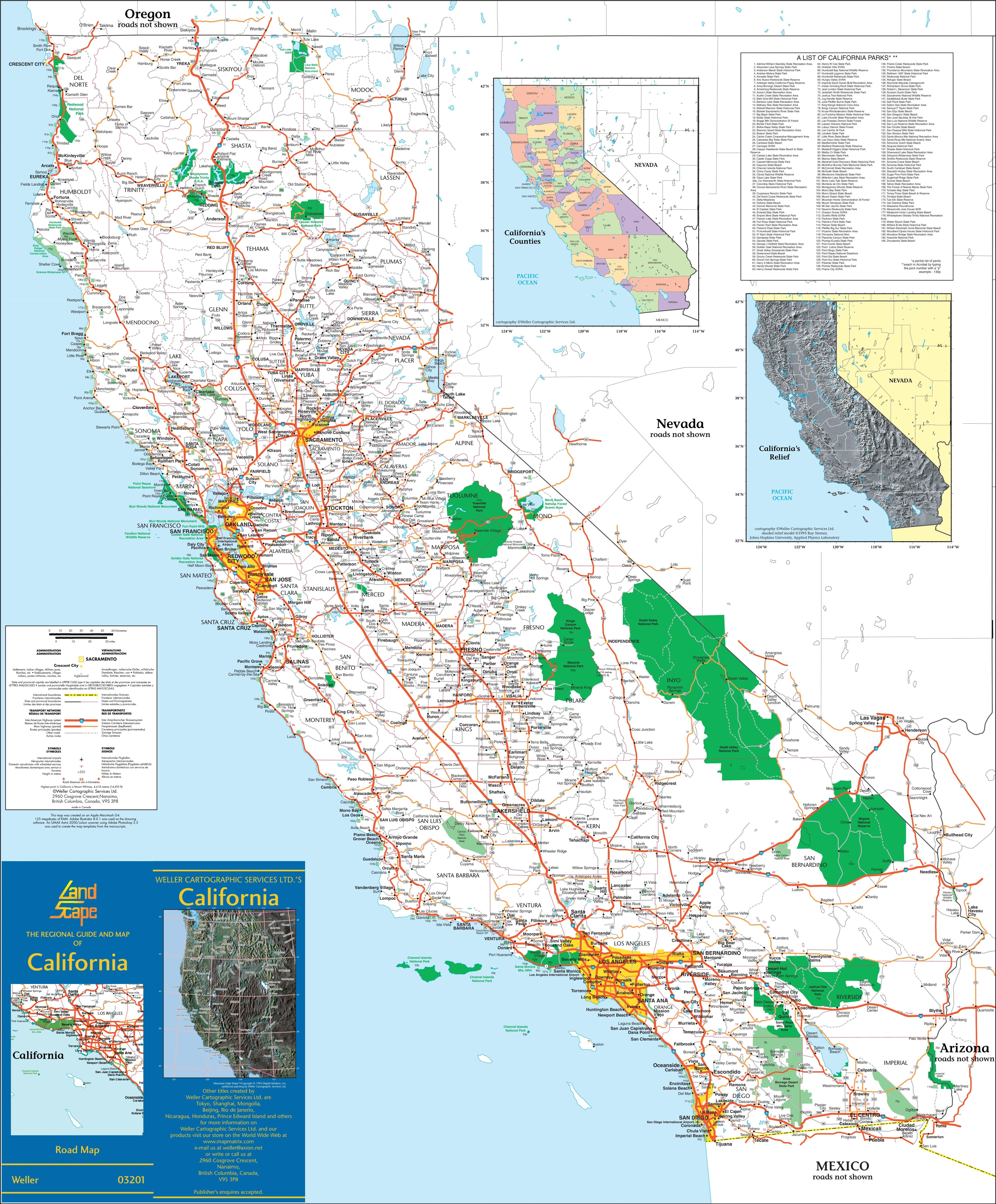 Large Detailed Map Of California With Cities And Towns California Map California City Map Detailed Map