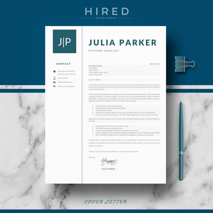 Professional, Modern and Minimalist Resume Template for MS Word ...