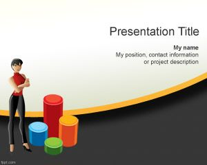 Women Business Plan Powerpoint Template Is A Free Background For