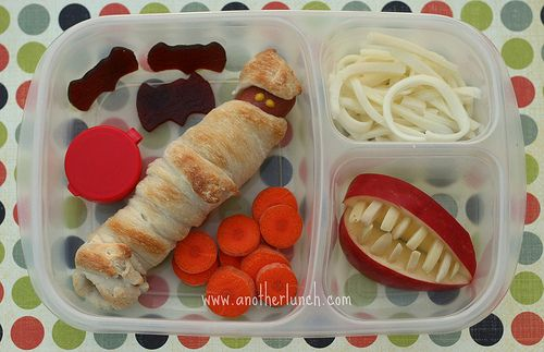EasyLunchboxes mummy  more Bento, School lunch and Lunches - halloween food ideas for kids party