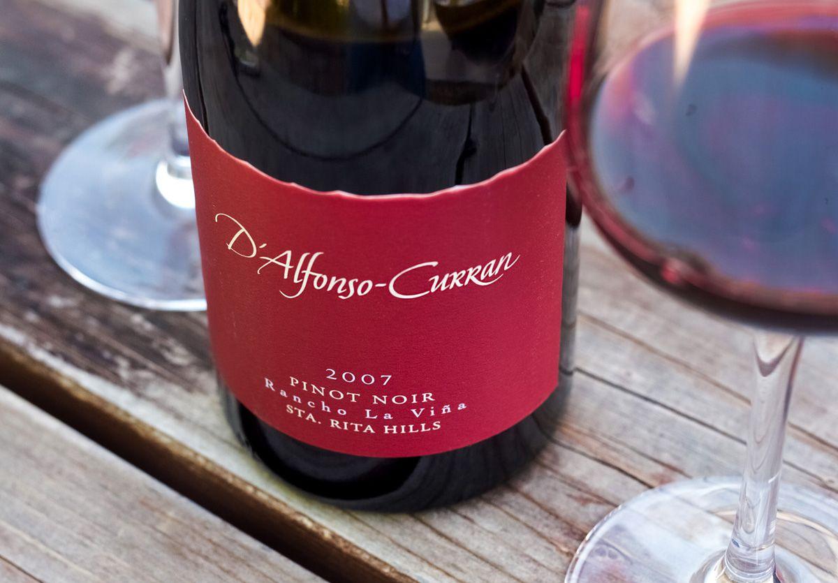 2007 D Alfonso Curran Santa Rita Hills Rancho La Vina Vineyard Pinot Noir Wine Recipes Pinot Noir Wines