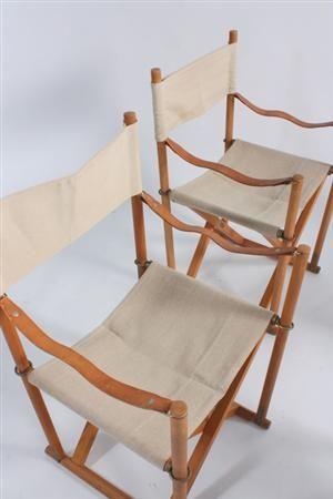 Køb stole - danske klassikere, antikke, moderne - Mogens Koch. Fire foldestole / instruktørstole i stativ, bøgetræ (4) Denne vare er sat til omsalg under nyt varenummer 3338179 - DK, Esbjerg, Oddesundvej