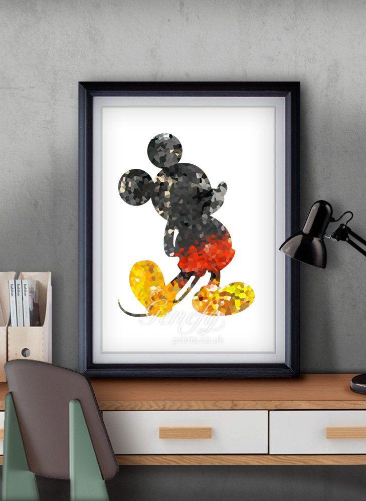 b78e834703 Disney Mickey Mouse Silhouette Poster Wall Art / Home Decor Ideas  www.genefyprints.co