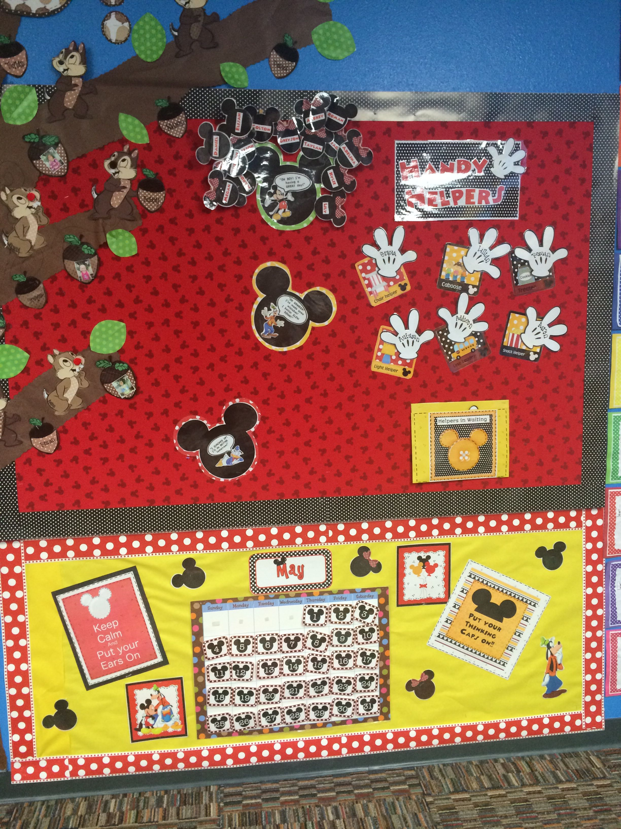 Disney Theme Circle Time Bulletin Board Behavior Chart
