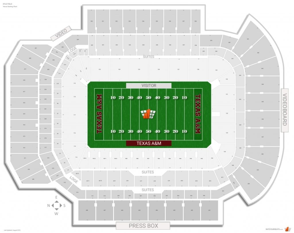Amazing as well as attractive kyle field seating chart
