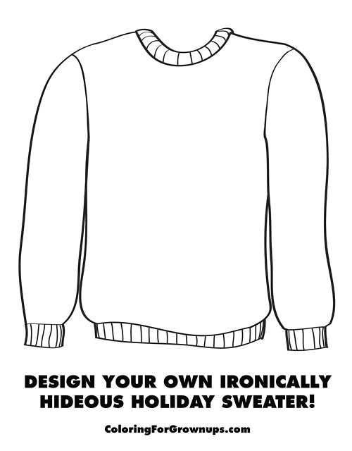 design your own ironically hideous holiday sweater