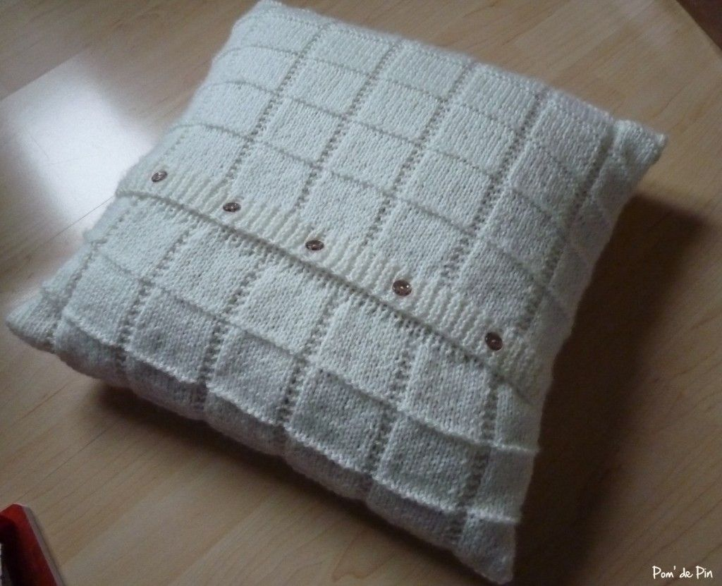tuto tricot coussin