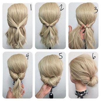 Schicke schnelle frisuren - Frisuren #diyhairstyles