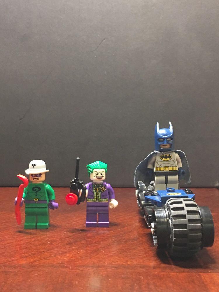 Batman, The Joker, The Riddler lego minifugures with