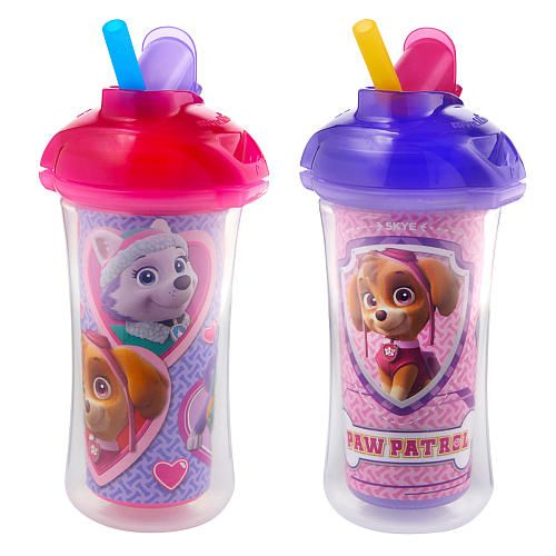 Paw Patrol 2 Pack Straw Cup Girl Munchkin Babies R Us Toddler Cup Toddler Sippy Cups Insulated Straw Cup