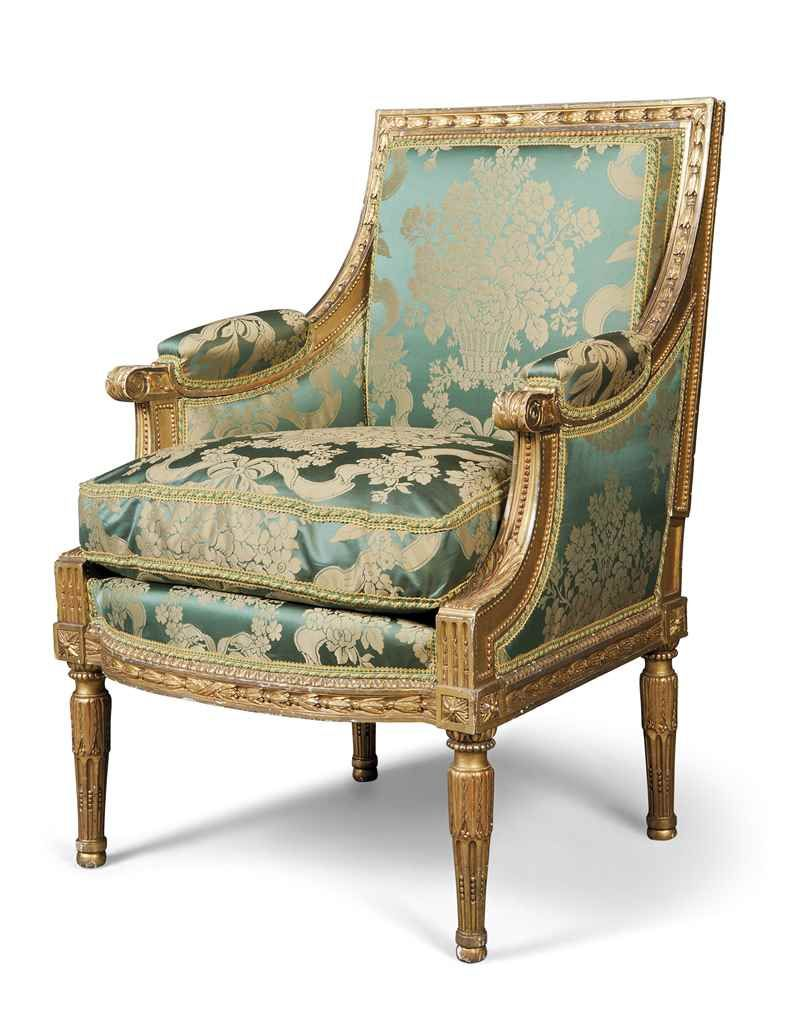 A suite of louis xviii giltwood seat furniture circa 1820