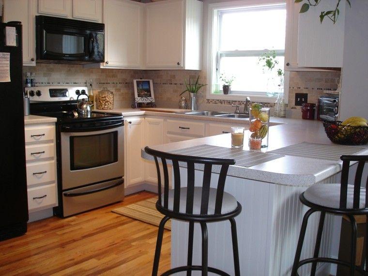 Blanco y madera - Cincuenta ideas para decorar tu cocina | Suelos de ...