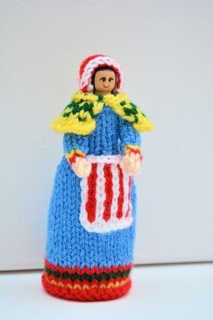 Lapland National Costume Peg Doll Beginners Knitting Pattern