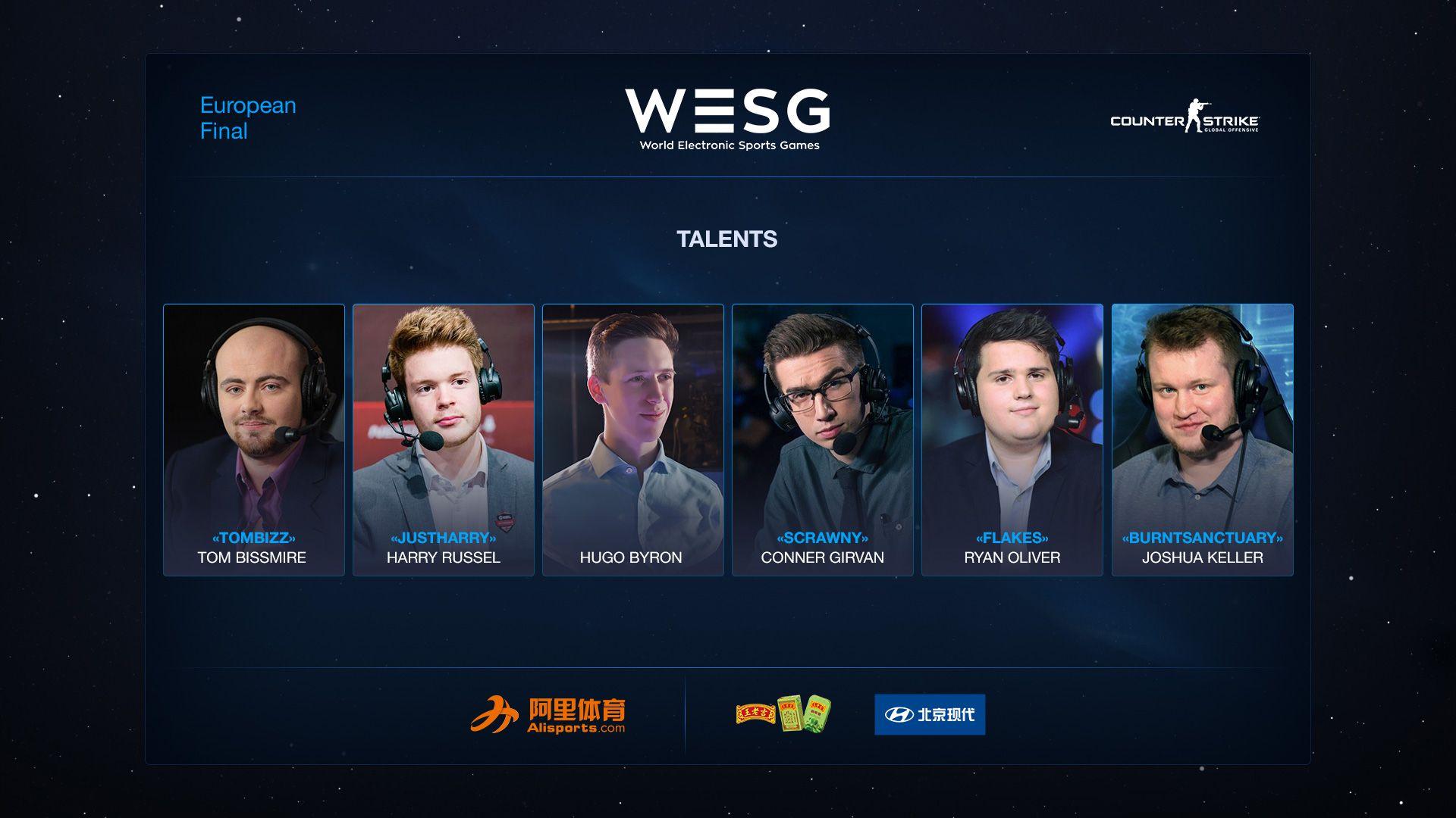 Talent-list for WESG CS:GO EU Finals