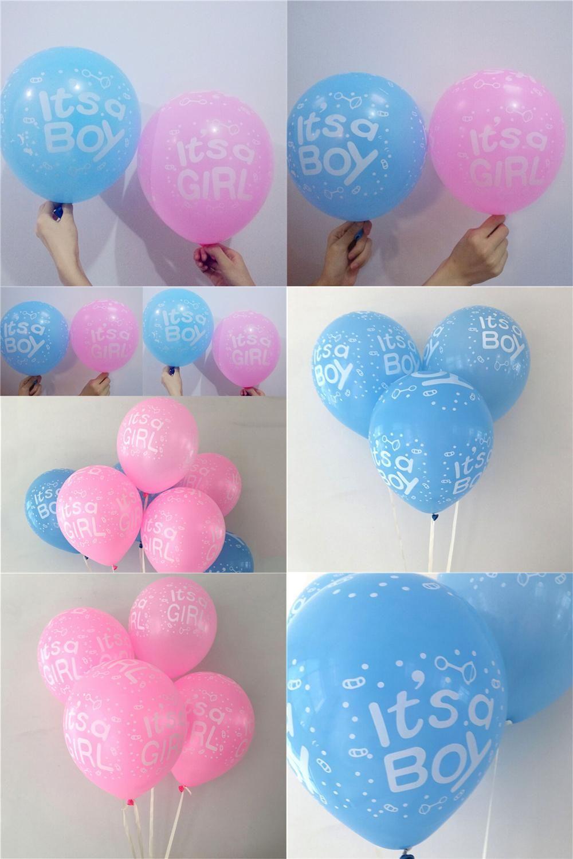 Visit to Buy] 10Pcs It is a boy and it\'s a girl baby boy latex ...