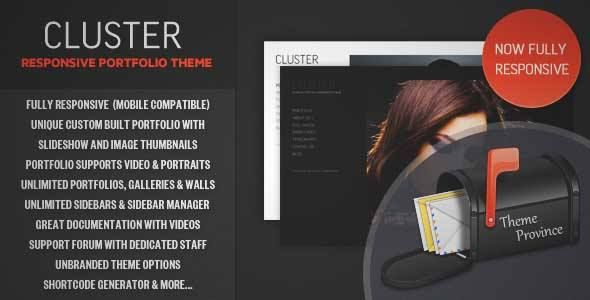 Download and review of Cluster - A Responsive Portfolio WordPress ...