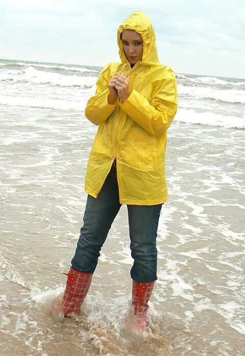 Tartan Rain Boots Rainwear Rain Boots Yellow Raincoat