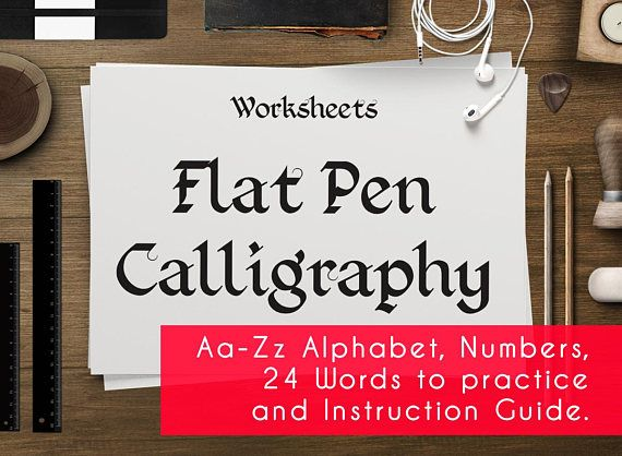 Hand calligraphy worksheets printable practice sheets guide