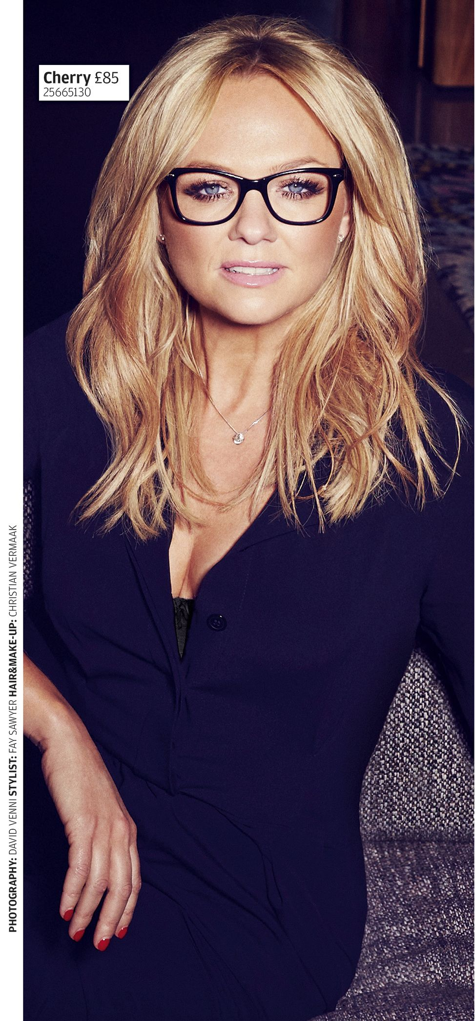 Emma Bunton In Cherry Black By Specsavers Fabrics