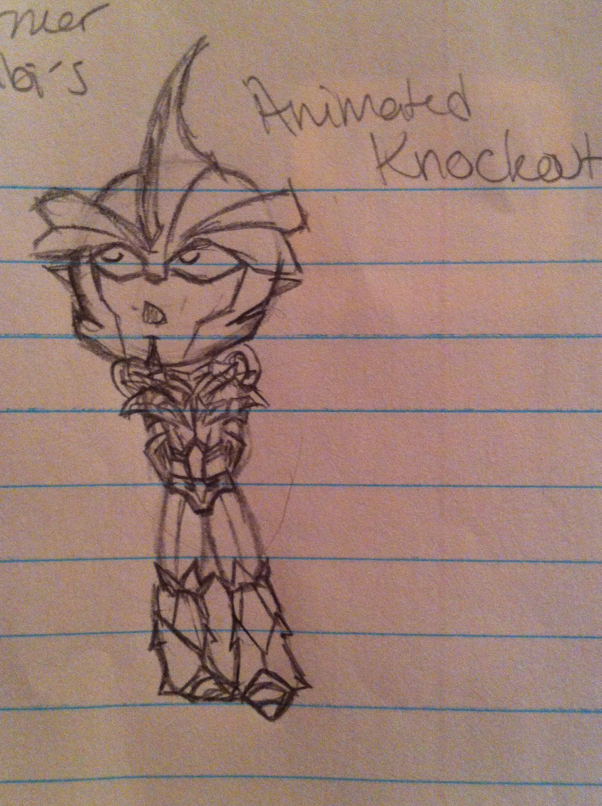 My sketch of chibi (Animated) Knockout
