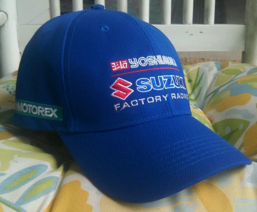 Yoshimura Suzuki Factory Racing Cap Hat Motorex Dunlop Trucker pit crew  mechanic  BaseballCap eb538277e1d