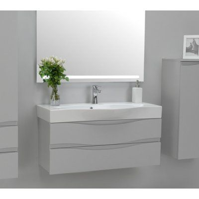 Antado Wave Szafka Podumywalkowa 80 Cm 2 Szuflady Szary Mat Va 140 80 2 U112 Bathroom Vanity Single Vanity Vanity