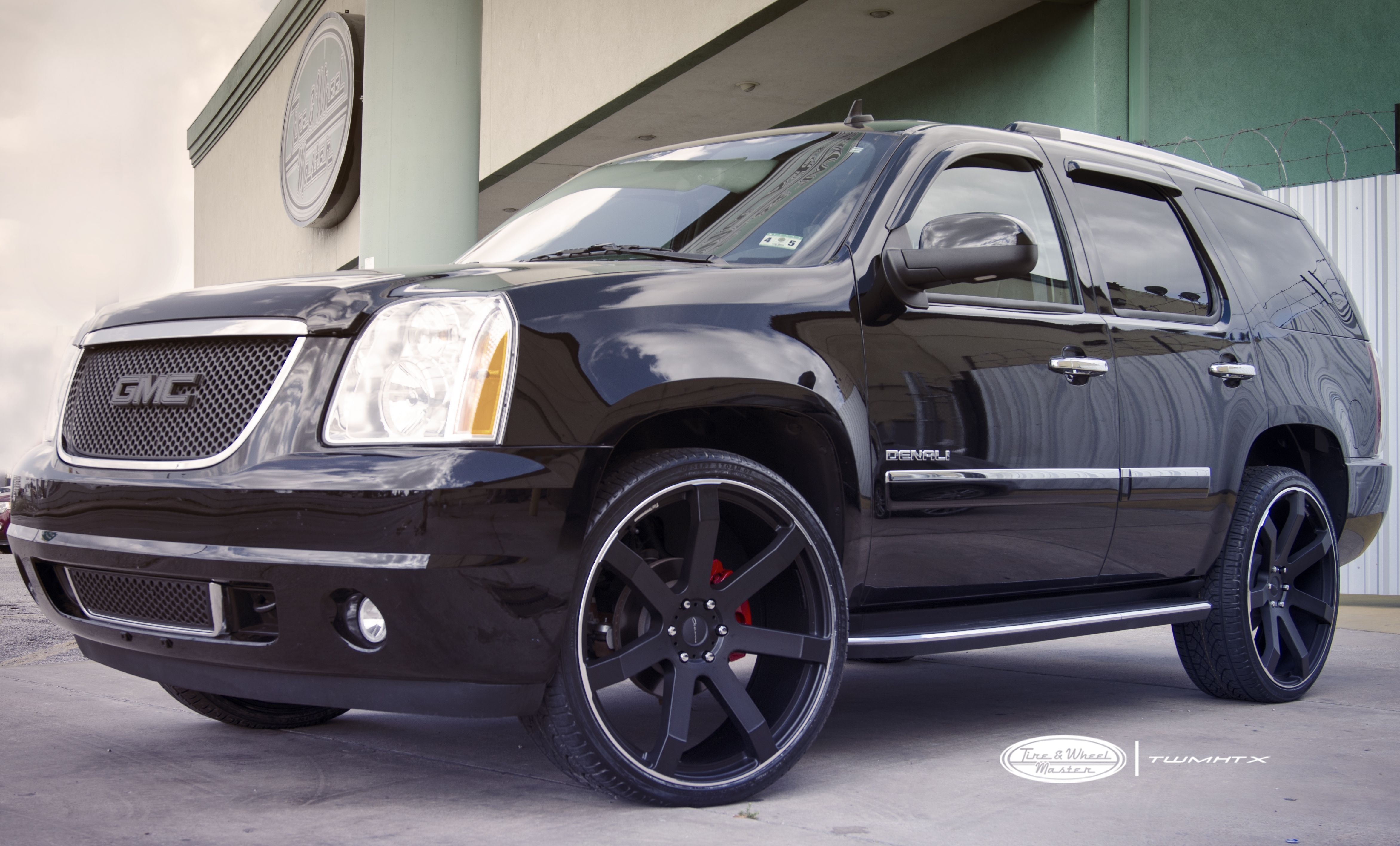 Black Gmc Yukon Denali With 26 Inch Giovanna Andros Wheels And