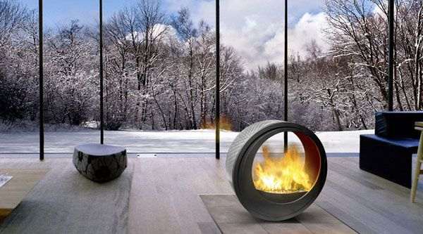 The Eclypsya Mobile Fireplace Marketed By Arkiane And Designed By