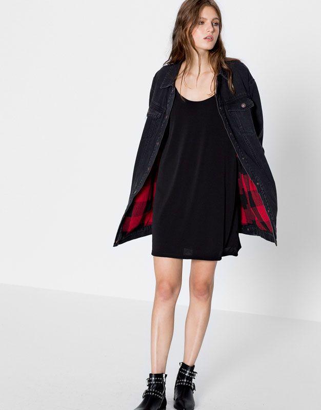 Pull&Bear - mujer - trends - teen girls collection - vestido escote espalda - negro - 09394359-I2016