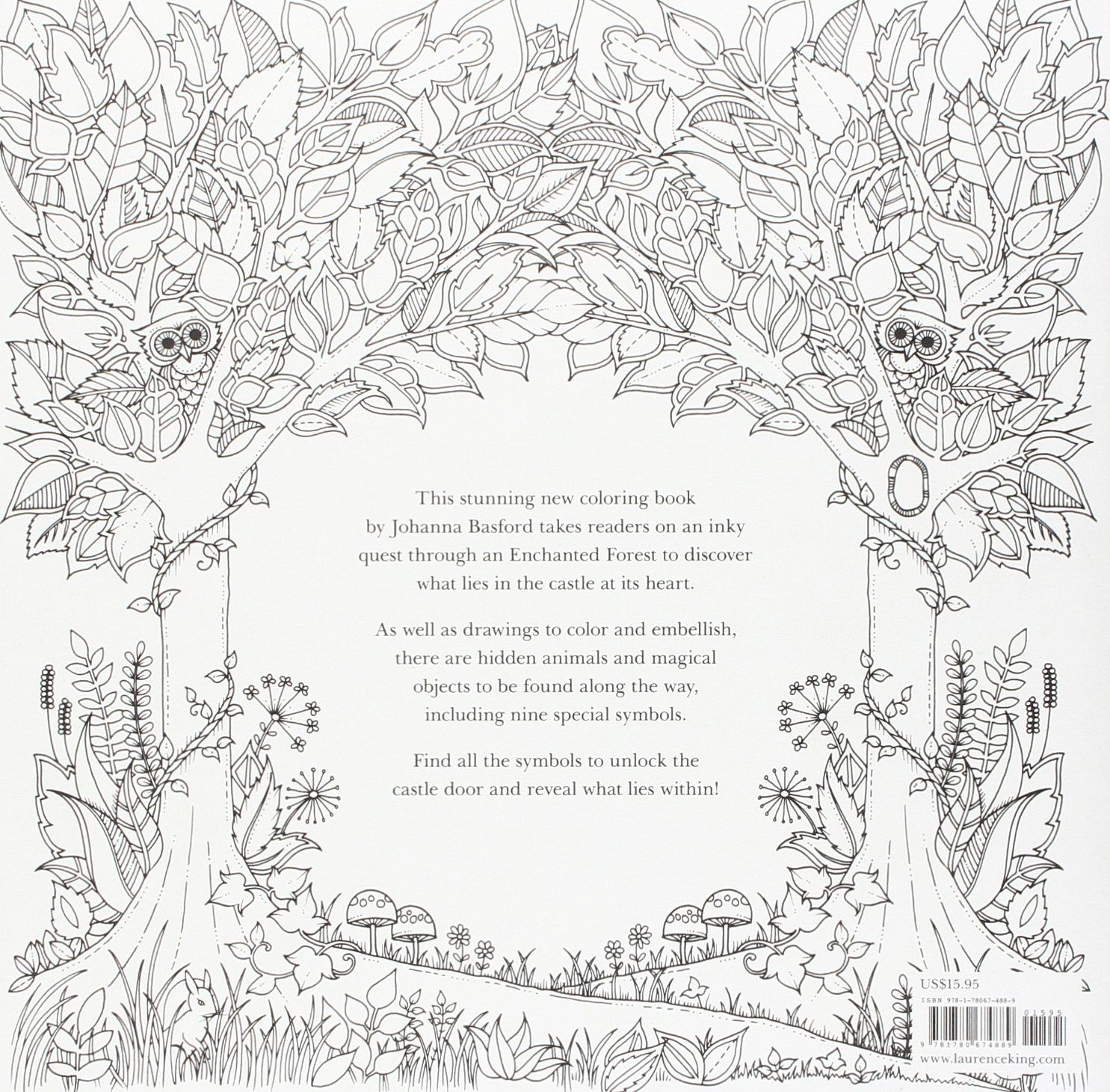 Amazon Johanna Basford Secret Garden Coloring Canvas