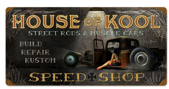 House Of Kool Vintage Metal Sign 24 X 12 Inches Inches Metal