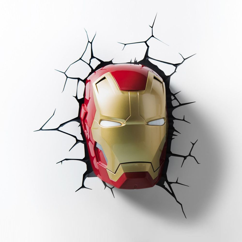 Official marvel iron man avengers series 3d led wall night light official marvel iron man avengers series 3d led wall night light mask sticker aloadofball Choice Image