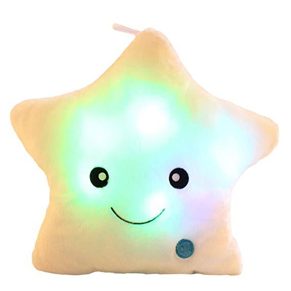 New Kids Toys Gift Led Light plush Pillow Smile Star Shape