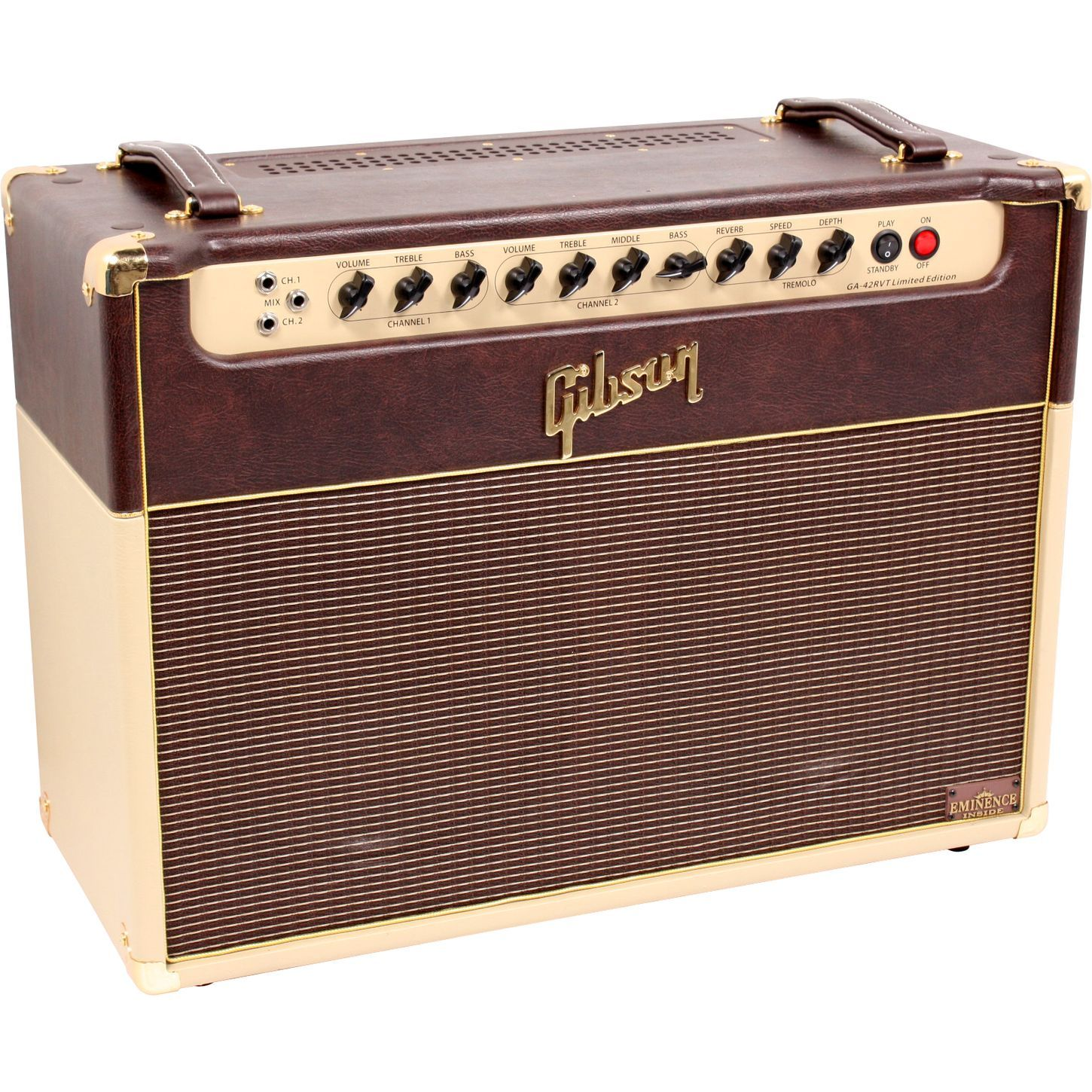 vintage melody amplifier gibson ga42rvt 30w 2x12 tube guitar combo amp musician 39 s friend. Black Bedroom Furniture Sets. Home Design Ideas