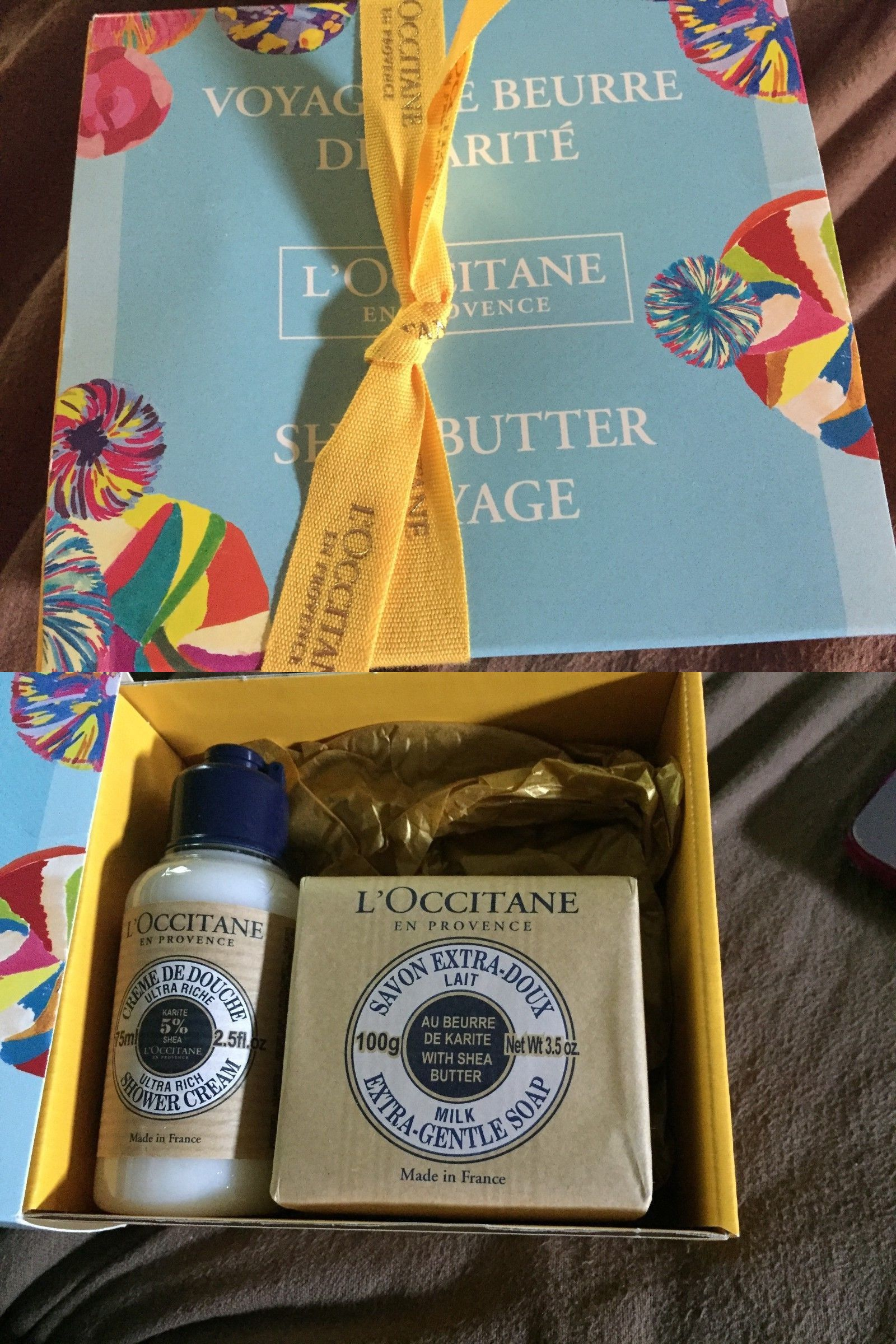 Bath Sets And Kits 67391 L Occitane Shea Butter Voyage Soap Shower Cream Holiday Birthday