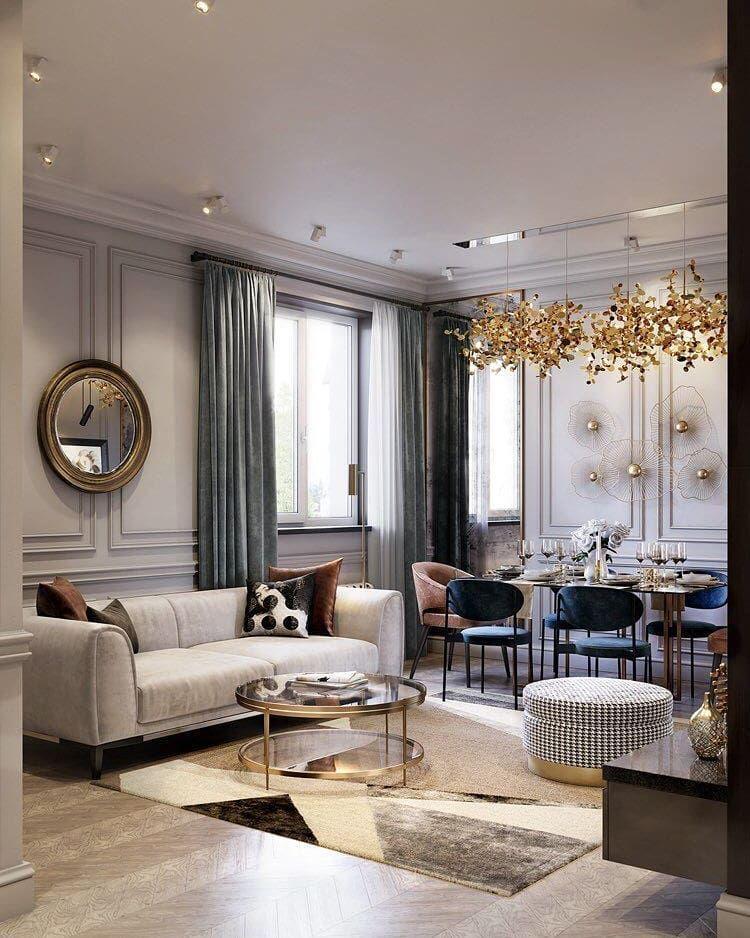 Modern Classic Living Room Interior Design: Classic Living Room, Contemporary