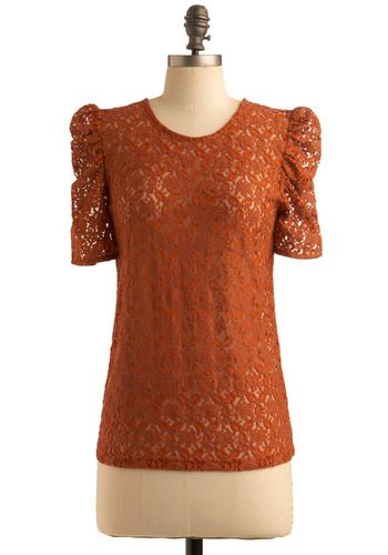 rust top - mod cloth