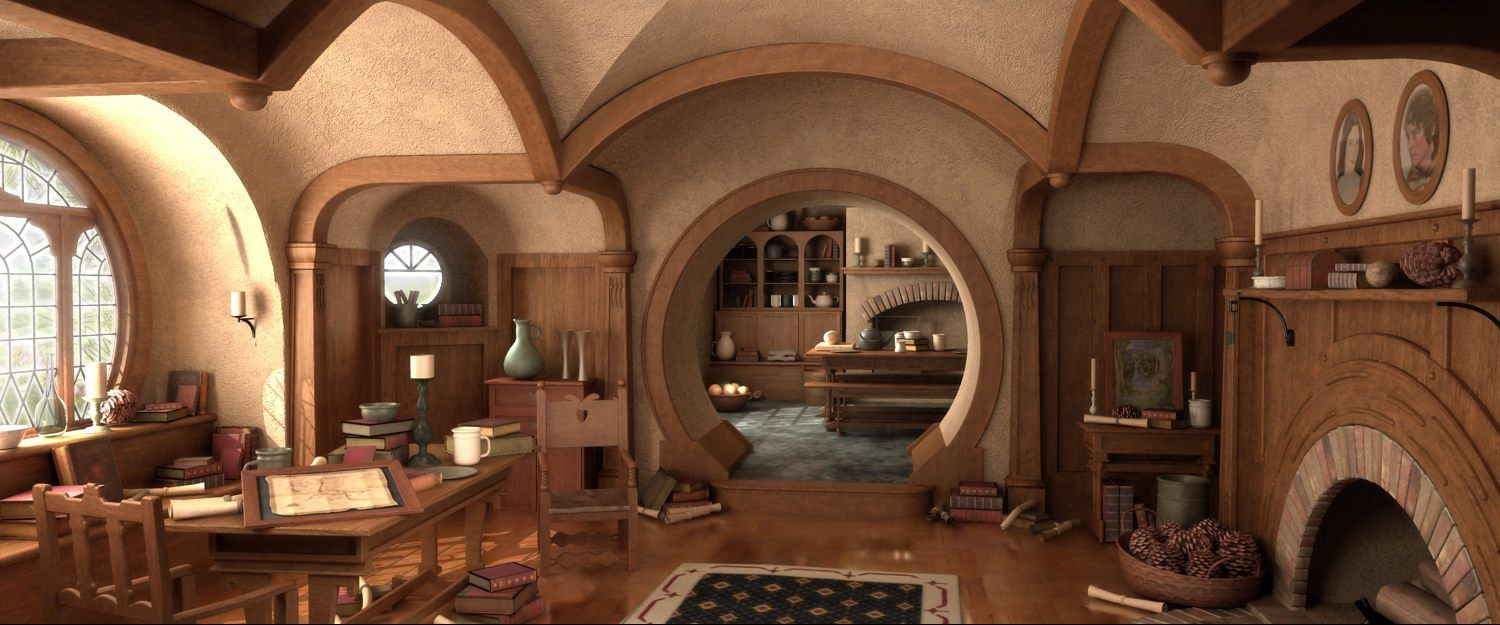 interior heavenly hobbit house design inspiration mesmerizing house fit interior design for hobbits with fine wooden theme interior - Hobbit Home Designs