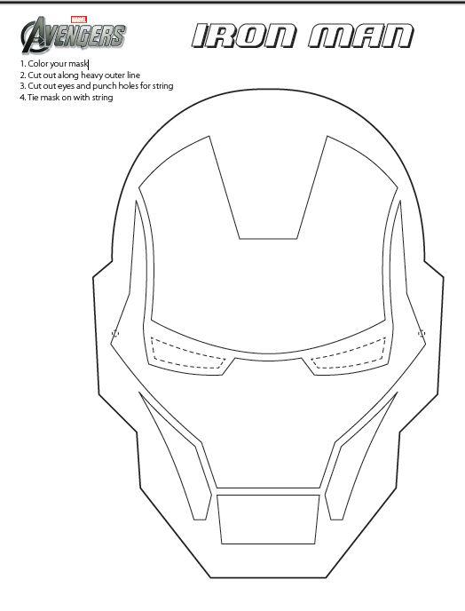 Printable Ironman mask | Birthdays | Pinterest | Uomo di ferro