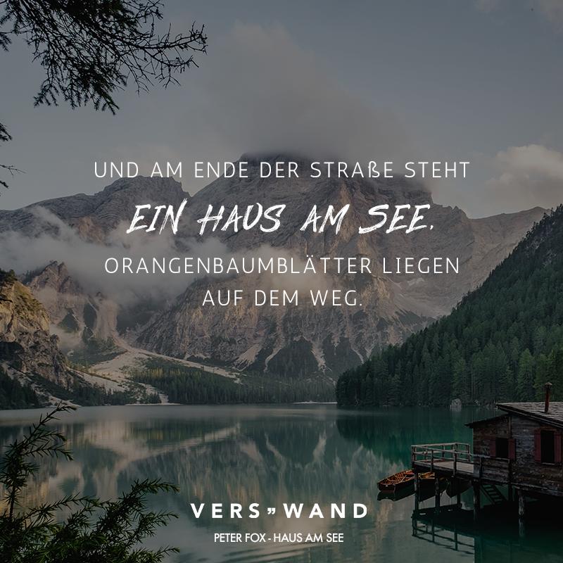 Visual Statements®️️ Und am Ende der Straße steht ein Haus am See. Orangenbaumblätter liegen auf dem Weg. Peter Fox Sprüche / Zitate / Quotes / Verswand / Musik / Band / Artist / tiefgründig / nachdenken / Leben / Attitude / Motivation
