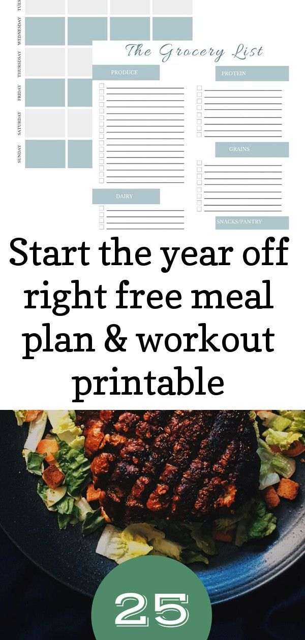 DownloadFREE Printables that include a Weekly Meal Plan (breakfast lunch amp; dinner), Grocery List...