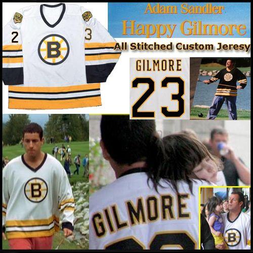 2ad8abfefc5 Adam Sandler Boston Bruins Happy Gilmore White Hockey Jersey - Custom Made Sports  Jersey