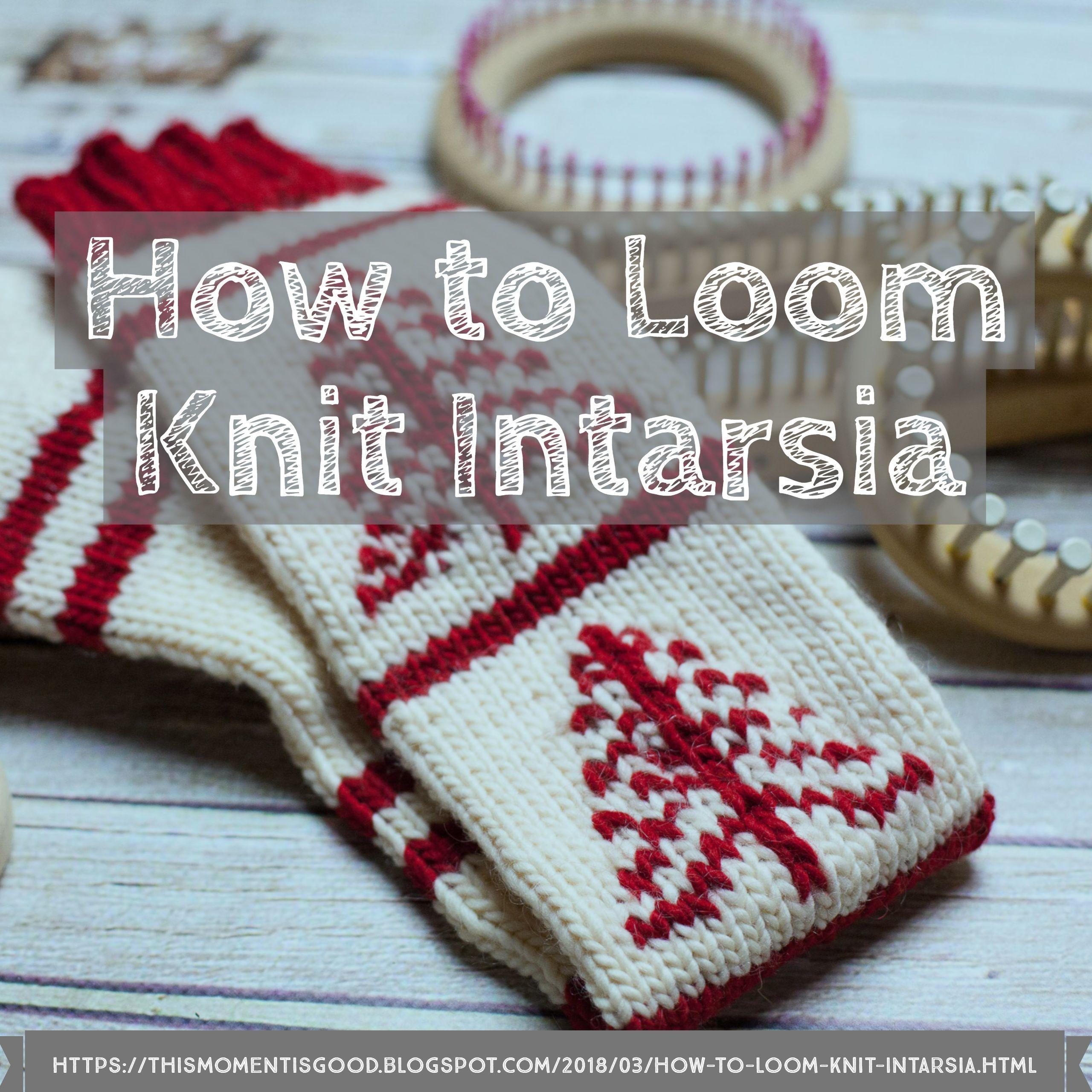 How to Loom Knit Intarsia | Telar y Tejido