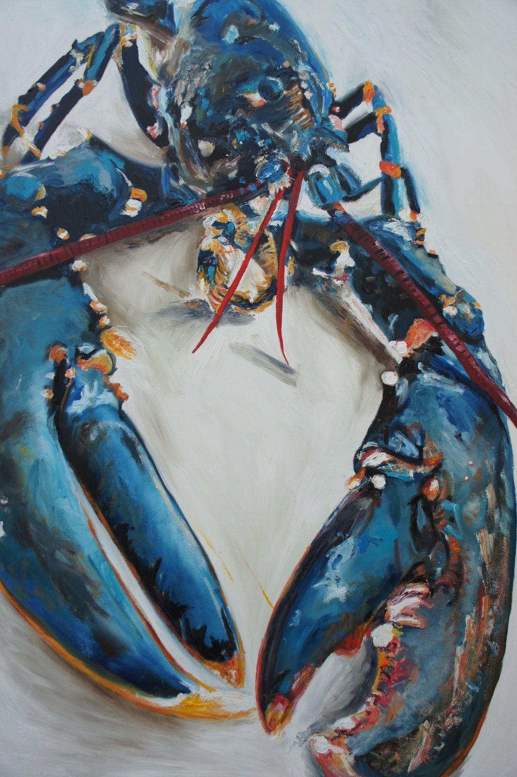 lobster blue giclée print by michelle parsons artfinder