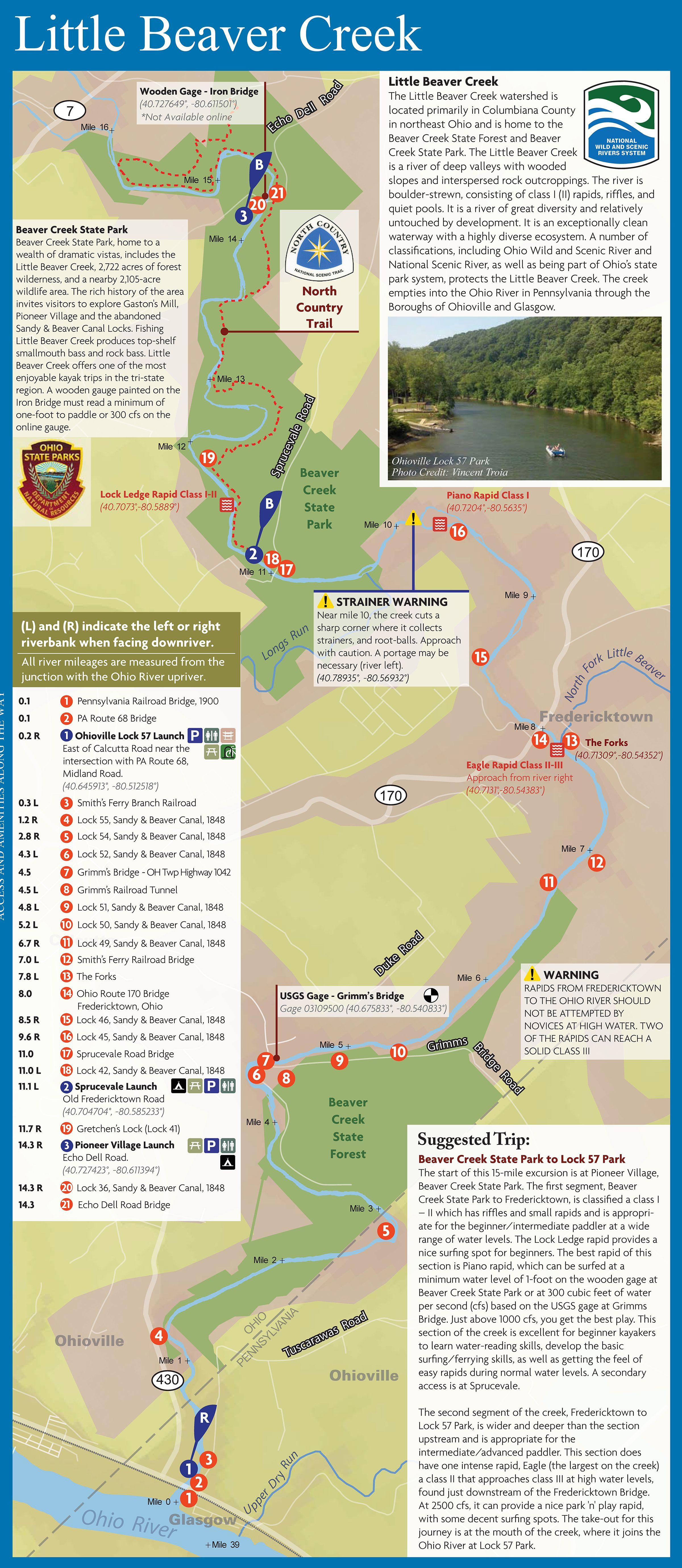 Little Beaver Creek Water Trail Beaver Creek Canoe Trip National Trails Day