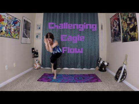 carleen rose  a nerdi yogi challenging eagle flow