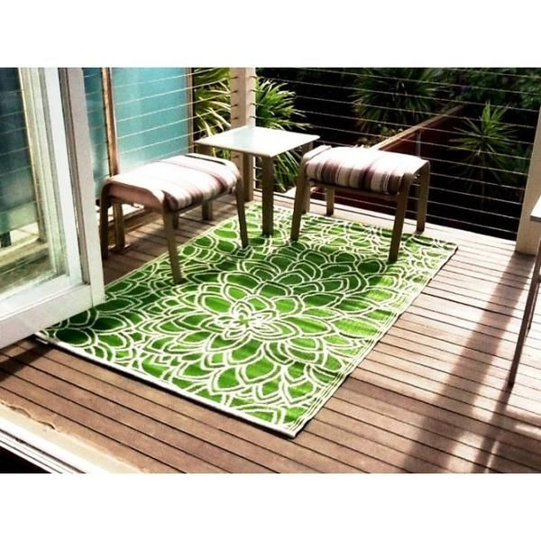 Outdoor Rug Recycled Plastic Eden Lime