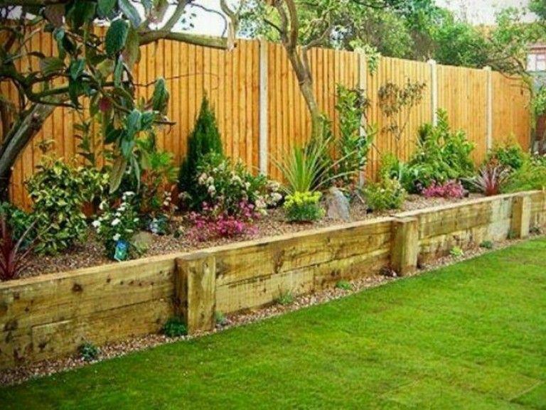30 Admirable Diy Wood Planter Box Ideas For Your Amazing Garden Backyard Backyard Projects Backyard Landscaping