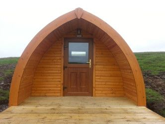 The pods have mains power and come fitted with low energy lights, heaters and double socket., Callanish Camping