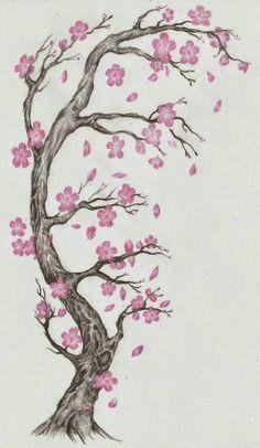 40 Tatuajes De Flores De Cerezo Para Chicas Tatuajes De Flor De
